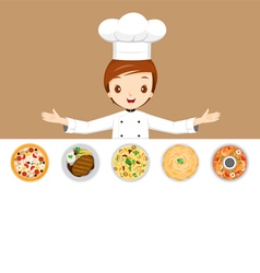 Chef With Different Menus vector