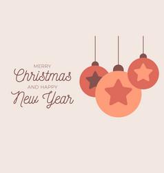 christmas greeting card retro christmas or new vector image