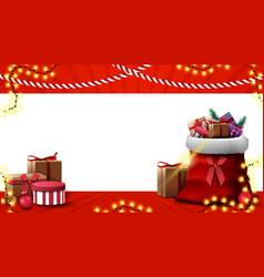 christmas template for greeting card or discount vector image