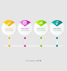circle timeline infographic elements layout 4 vector image
