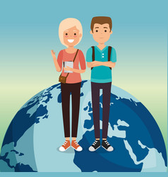 couple in the world characters vector image