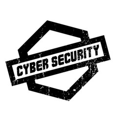 Cyber security rubber stamp vector