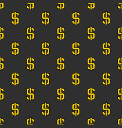 Dark dollar pattern vector