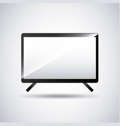 desktop computer technology icon vector image