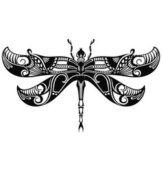 dragonfly tattoo vector image