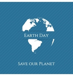 Earth Day green Print Banner Template vector image