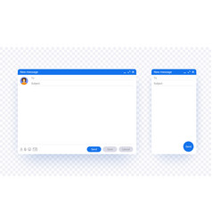 email window web and mobile template isolated on vector image