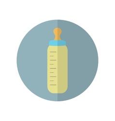 Flat style feeding bottle icon vector