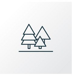 forest icon line symbol premium quality isolated vector image