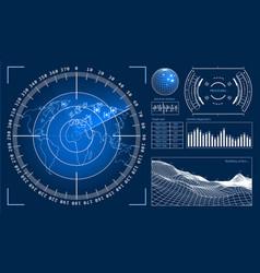 Futuristic user interface hud tech elements vector
