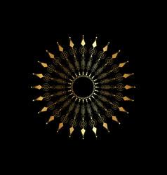 gold mandala graphic ethnic arrows design icon vector image