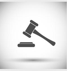 Hammer judge icon vector