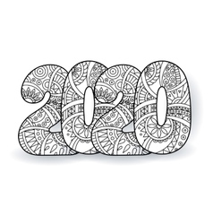 Happy New Year 2020 celebration number vector image