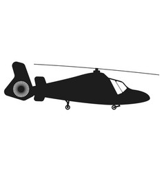 helicopter sign black icon vector image