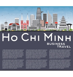 Ho Chi Minh Skyline with Gray Buildings vector