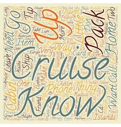 How To Pack For Cruise Travel text background vector image