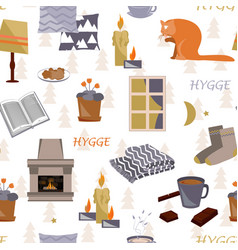 Hygge seamless pattern vector