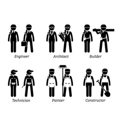 Industrial and constructions jobs works vector