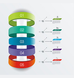 infographic design can be used for number option vector image