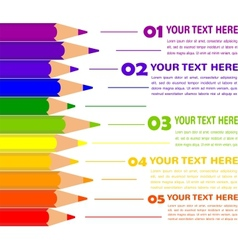 infographics with colorful pencils vector image