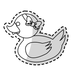 Isolated toy duck cartoon design vector