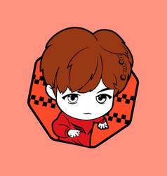 Kpop boy 10 vector