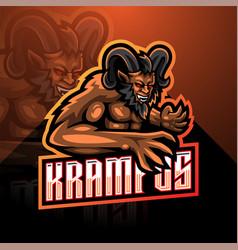 krampus esport mascot logo design vector image