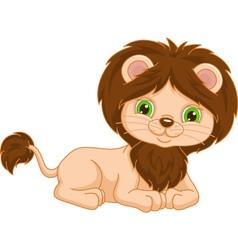 lion lies vector image
