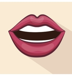 lip female beautiful d icon vector image