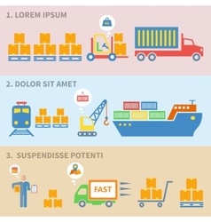 Logistic icons labels vector image