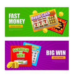 lottery online banners vector image
