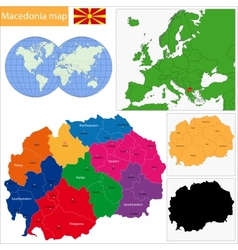 Macedonia map vector