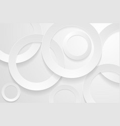 Modern silver backgrounds 3d circle papercut vector
