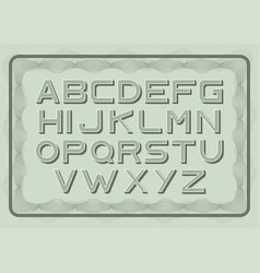 money font dollar latin alphabet sans serif vector image