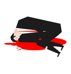 murder of businessman dead boss in pool of blood vector image