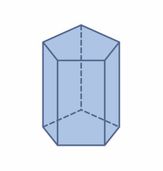Pentagonal prism vector
