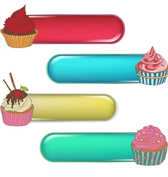 Price tag label with a cupcake Write the text on vector image