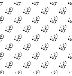 problem search smartphone pattern seamless vector image