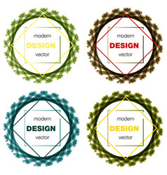 Set modern icon design logo element with business vector