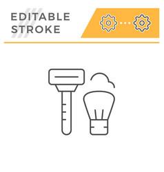 shave line icon vector image