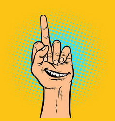 smile joy emotion you hand gesture vector image