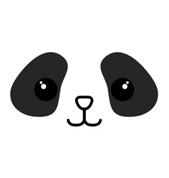 Stuffed animal panda vector