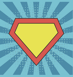 superhero logo template vector image