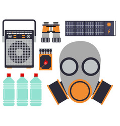 survival emergency kit for evacuation vector image