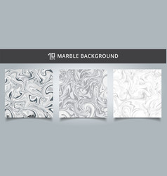 template cover set gray and white marble vector image