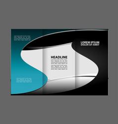 tri-fold business brochure template template desig vector image