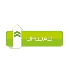 upload data cloud connection web vector image