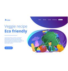 veggie recipe eco friendly landing page vector image