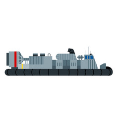 War hovercraft flat icon isolated vector