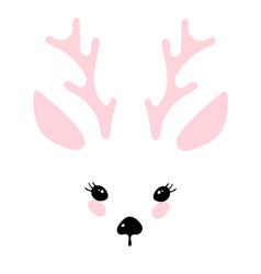 With a deer head cute animal design vector
